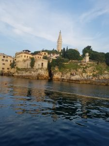 View of Rovinj, Croatia from the water